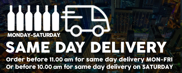 Same Day Delivery, Monday to Saturday.