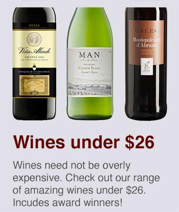 Amazing wines under $26