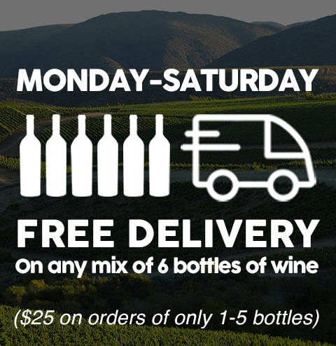 Free Delivery on 6 bottles of wine or more